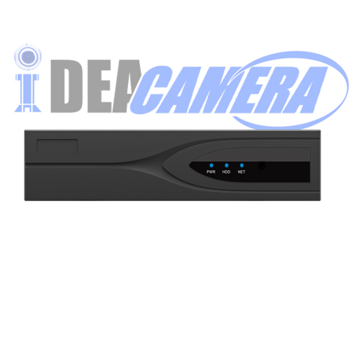 4CH H.265 NVR with 4pcs POE ports,1080P,4CH Playback,VSS Mobile App,P2P