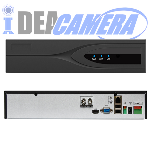 4CH 2MP H.265 NVR,Double antenna,Support WIFI Camera,4CH Playback,4CH 1080P@FPS