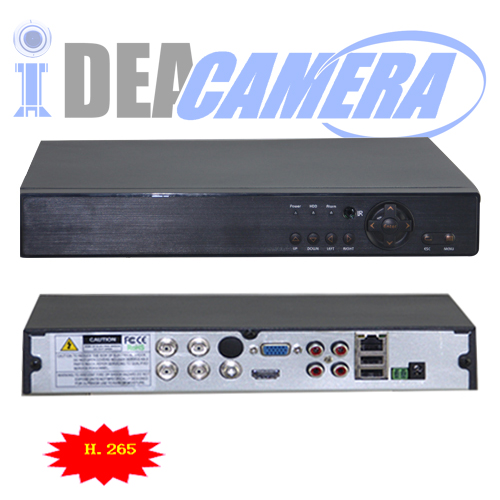 4CH H 265 4K/5MP 5IN1 Hybrid DVR,XMEYE APP,4CH Playback,P2P